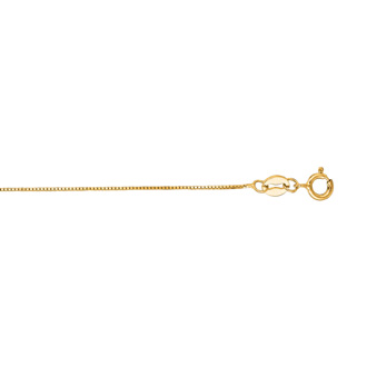 14 Karat Yellow Gold 0.6mm 13 Inch Classic Box Chain Necklace