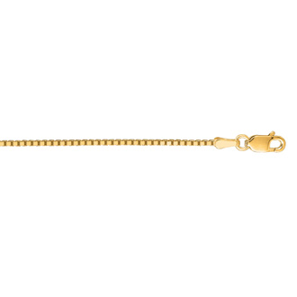 14 Karat Yellow Gold 1.1mm 20 Inch Classic Box Chain Necklace