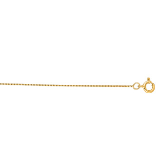 14 Karat Yellow Gold 0.45mm 20 Inch Classic Box Chain Necklace