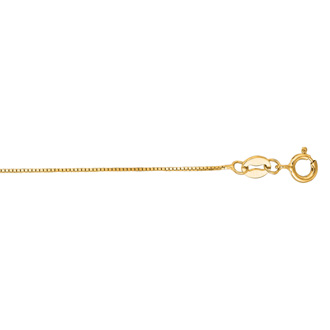 14 Karat Yellow Gold 0.6mm 20 Inch Classic Box Chain Necklace