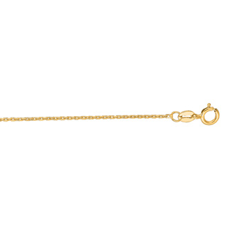 14 Karat Yellow Gold 1.10mm 16 Inch Cable Link Chain Necklace