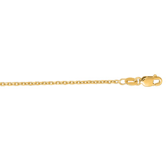14 Karat Yellow Gold 1.50mm 22 Inch Cable Link Chain Necklace
