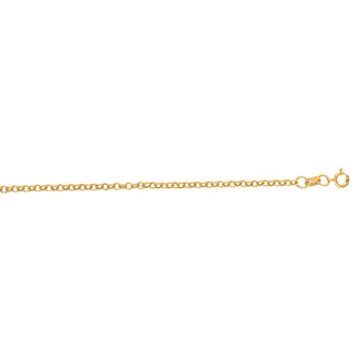 14 Karat Yellow Gold 1.90mm 16 Inch Rolo Link Chain Necklace