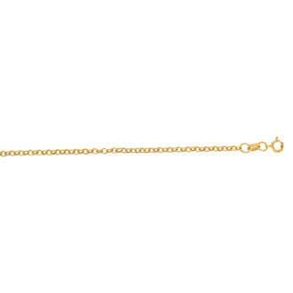 14 Karat Yellow Gold 1.90mm 20 Inch Rolo Link Chain Necklace
