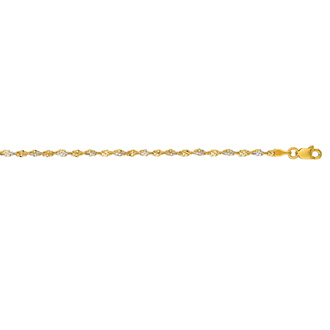 14 Karat Yellow Gold 2.0mm 16 Inch Singapore Chain Necklace