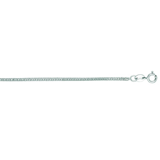 14 Karat White Gold 1.0mm 18 Inch Foxtail Chain Necklace