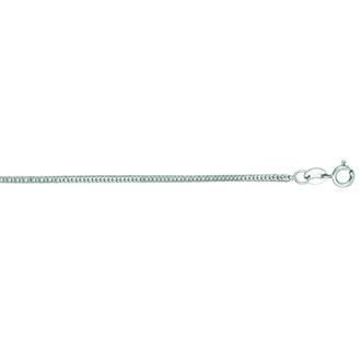 14 Karat White Gold 1.0mm 20 Inch Foxtail Chain Necklace