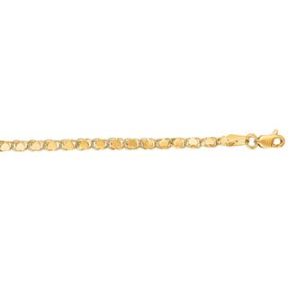 14 Karat Yellow Gold 2.9mm 18 Inch Heart Chain Necklace
