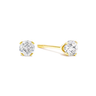 1/4ct Diamond Studs in Yellow Gold