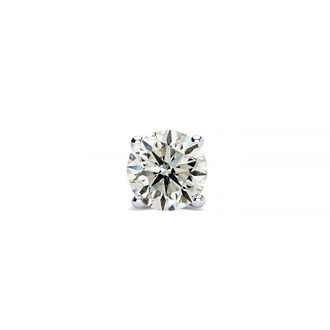3/8 Carat Single Diamond Stud Earring In 14 Karat White Gold