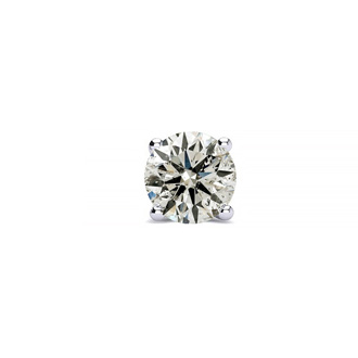 Classic 1/2ct Single Diamond Stud Earring in 14k White Gold