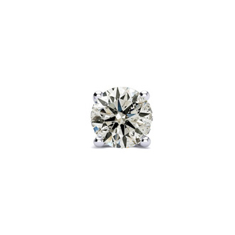 Classic 1ct Single Diamond Stud Earring in 14k White Gold