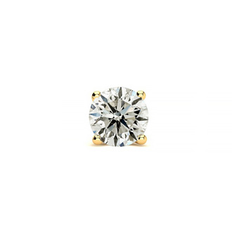 Classic 1/2ct Single Diamond Stud Earring in 14k Yellow Gold