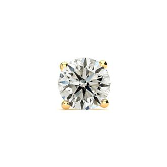 2/3 Carat Single Diamond Stud Earring In 14 Karat Yellow Gold