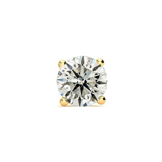 Classic 3/4ct Single Diamond Stud Earring in 14k Yellow Gold