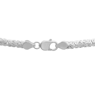 Sterling Silver 6MM Byzantine Chain Bracelet, 8 Inches