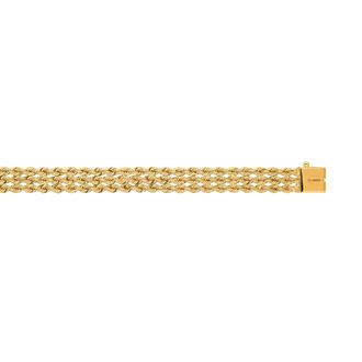 14 Karat Yellow Gold 7.50mm 8 Inch Multi Line Rope Chain