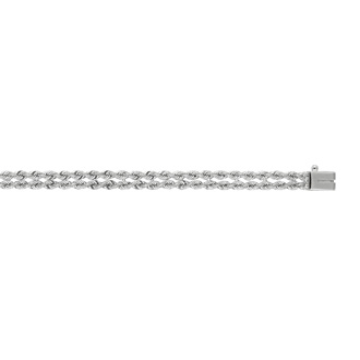 14 Karat White Gold 7.50mm 7 Inch Multi Line Rope Chain