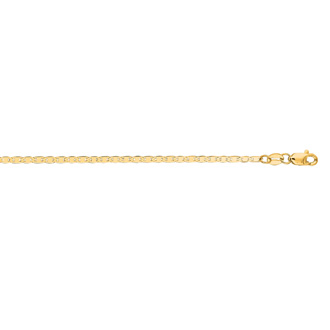 14 Karat Yellow Gold 1.7mm 16 Inch Diamond Cut Mariner Link Chain