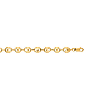 14 Karat Yellow Gold 6.90mm 20 Inch Puffed Mariner Link Chain