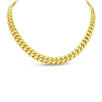 14 Karat Yellow Gold 5.40mm 20 Inch Light Miami Cuban Chain