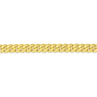14 Karat Yellow Gold 5.40mm 22 Inch Light Miami Cuban Chain