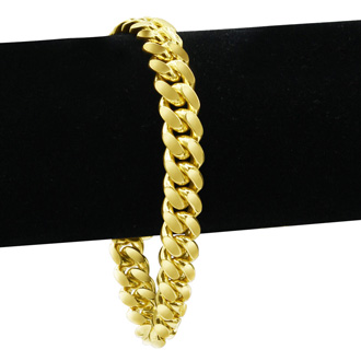 14 Karat Yellow Gold 5.0mm 8.50 Inch Miami Cuban Chain