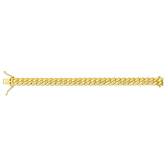 14 Karat Yellow Gold 5.80mm 8.50 Inch Miami Cuban Chain Bracelet