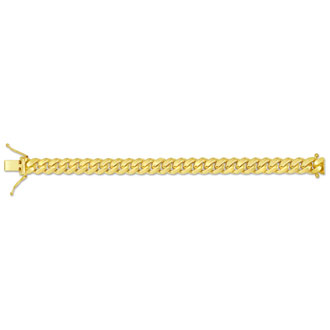 14 Karat Yellow Gold 6.70mm 8.50 Inch Miami Cuban Chain Bracelet