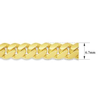14 Karat Yellow Gold 6.70mm 22 Inch Miami Cuban Chain