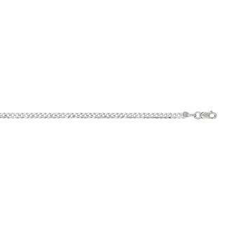 14 Karat White Gold 2.60mm 18 Inch Comfort Curb Chain