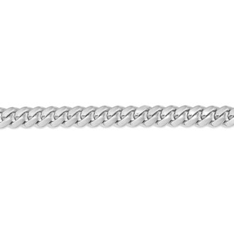 14 Karat White Gold 6.50mm 8.50 Inch Light Miami Cuban Chain Bracelet