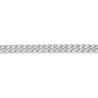 14 Karat White Gold 5.0mm 8.50 Inch Miami Cuban Chain Bracelet