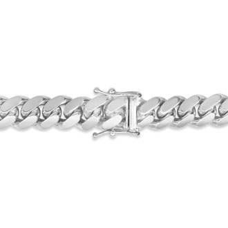 14 Karat White Gold 5.0mm 20 Inch Miami Cuban Chain