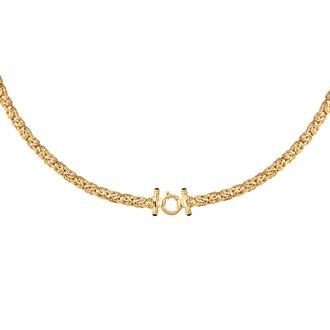 14 Karat Yellow Gold 8.0mm 18 Inch Shiny Byzantine Necklace
