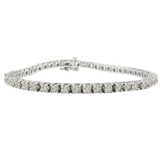 "6ct Diamond Tennis Bracelet in 14k White Gold - 8.5"""