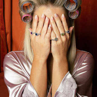 3 Carat Cushion Cut Tanzanite and Halo Diamond Ring With Fancy Band In 14 Karat White Gold