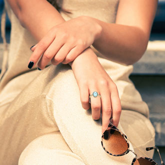 1 1/3 Carat Oval Shape Aquamarine and Halo Diamond Ring In 14 Karat Yellow Gold