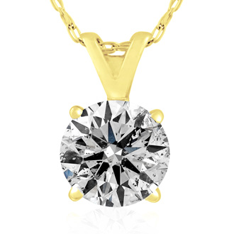 1CT DIAMOND BLOWOUT! 1ct Diamond Pendant in 14k Yellow Gold. UNHEARD OF PRICE!