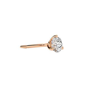 1/4 Carat Diamond Martini Stud Earrings In 14 Karat Rose Gold