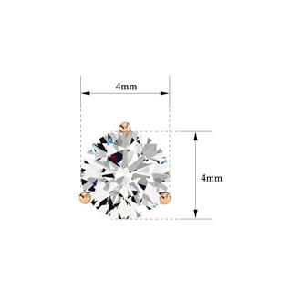 1/2 Carat Diamond Martini Stud Earrings In 14 Karat Rose Gold