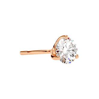 1 Carat Diamond Martini Stud Earrings In 14 Karat Rose Gold