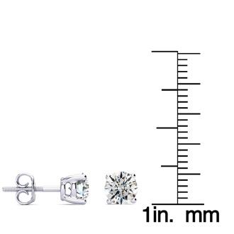 1 3/4ct Round Diamond Stud Earrings Set in Platinum