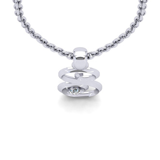 Diamond Accent S Swirly Initial Necklace In White Gold With Free 18 Inch Cable Chain