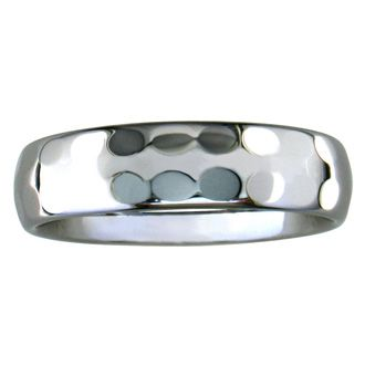 6mm Hammered Tungsten Wedding Band