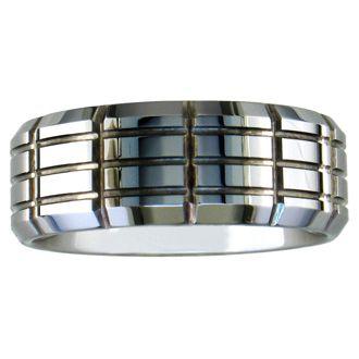 9mm MultiRow Engraved Tungsten Wedding Band