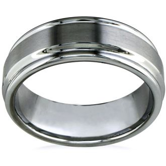 8mm Brush Finished Tungsten Wedding Band