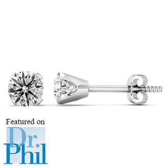 1 2ct Diamond Studs In 14k White Gold As Seen On Dr Phil