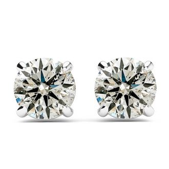 1/2ct Diamond Studs in 14k White Gold - As Seen on Dr. Phil! Natural, Earth-Mined Genuine Diamonds