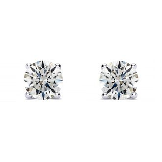 1/2ct Diamond Stud Earrings, White Gold, H/I Color, SI1-SI2 Clarity